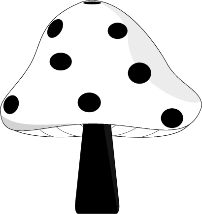 Black and White Mushroom