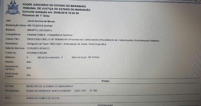 Arnaldo Gomes de Sousa - Altamira do Maranhão 2