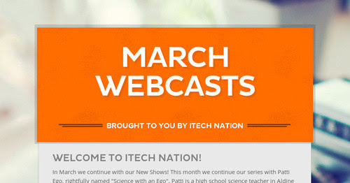 March Webcasts