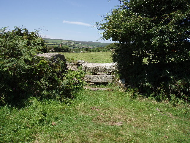 File:Stile on lane by the Engine Inn - geograph.org.uk - 36022.jpg