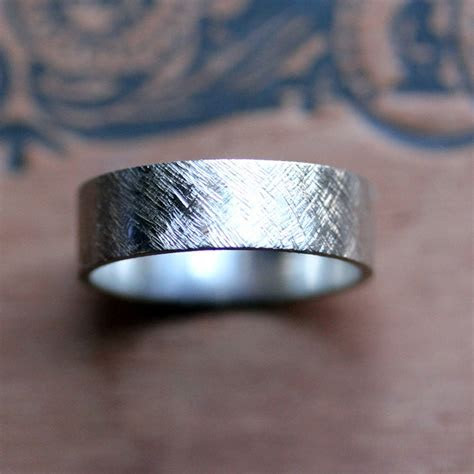 Palladium mens wedding ring   wide wedding band   modern