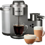 Keurig - K-Cafe Special Edition Single Serve K-Cup Pod Coffee, Latte and Cappuccino Maker - Nickel