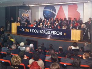 Ato na OAB em defesa do poder do CNJ de investigar júizes (Foto: Filipe Matoso/G1)
