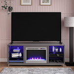 "Ameriwood Home Lumina Fireplace TV Stand for TVs Up to 70"" - Gray"