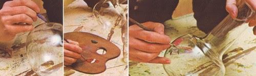 dipingiamo il vetro,come pitturare il vasetto di vetro con le roselline,pitturare il vetro,fai da te,hobby,