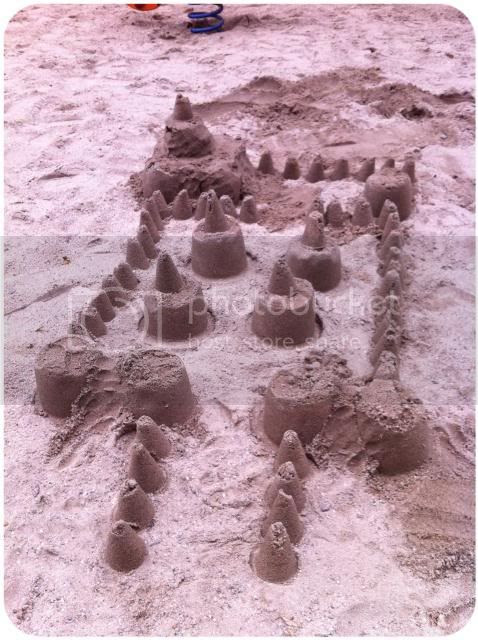Sandburg vor der Zerstörung