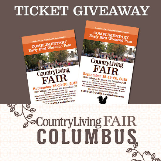 Country Living Fair Columbus Ticket Giveaway - At Home on the Bay