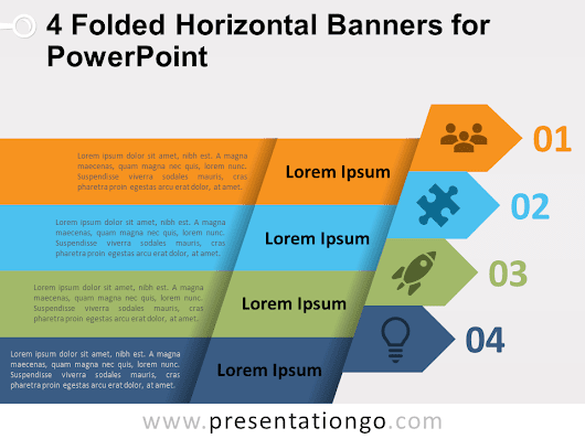 4 Folded Horizontal Banners for PowerPoint - PresentationGO.com