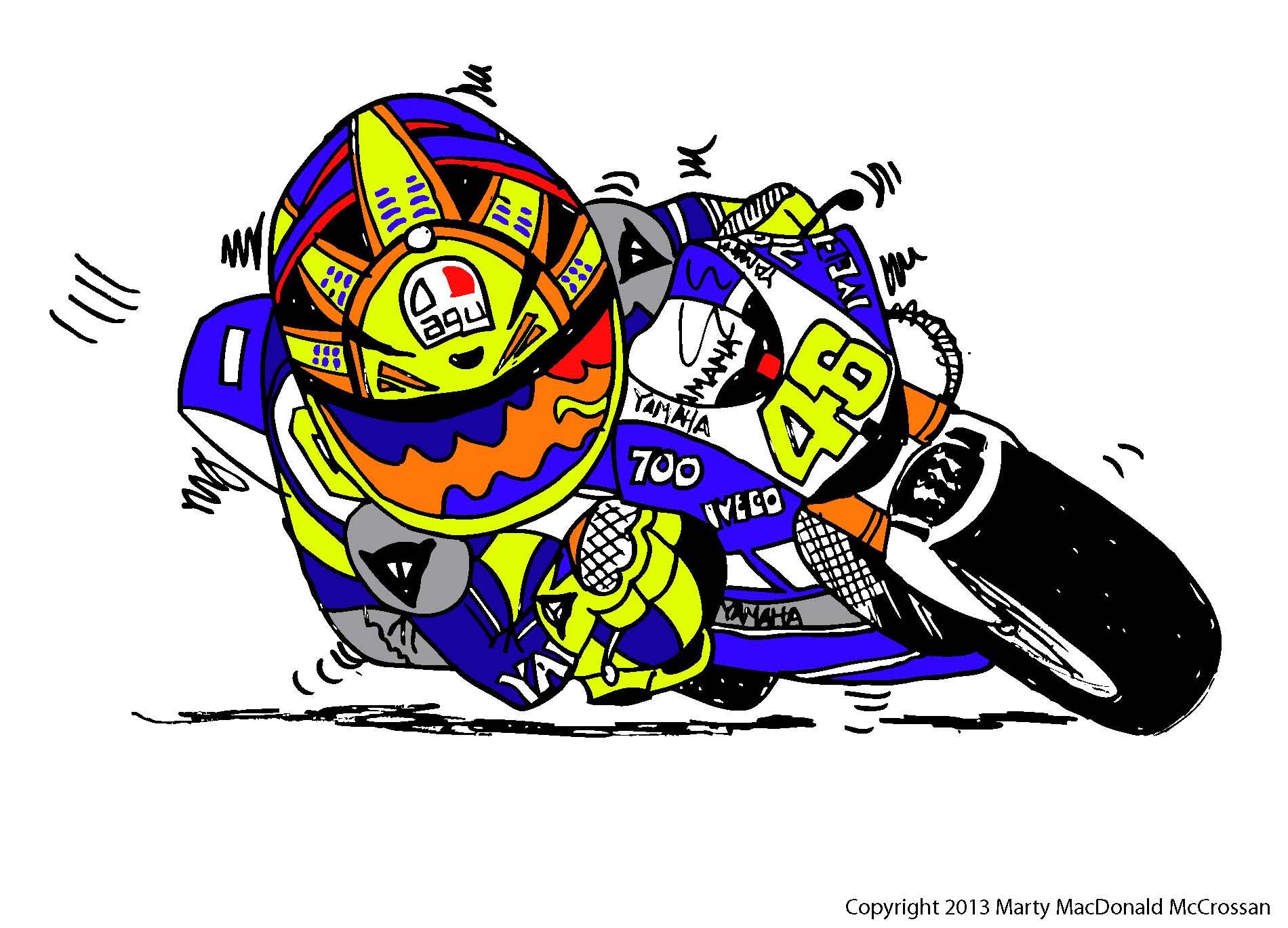 Gambar Animasi Kartun Valentino Rossi  Design Kartun
