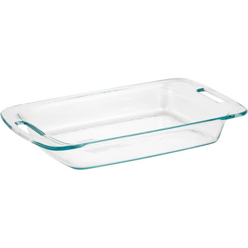 Pyrex Easy Grab Oblong Baking Dish, Clear - 3 qt