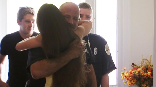 Firefighters Meet Paralyzed Father of Waitress Who Performed 'Selfless' Act - ABC News