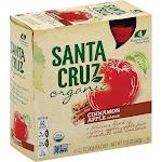 Santa Cruz Organic Apple Sauce - Cinnamon - Case Of 6 - 3.2 Oz.