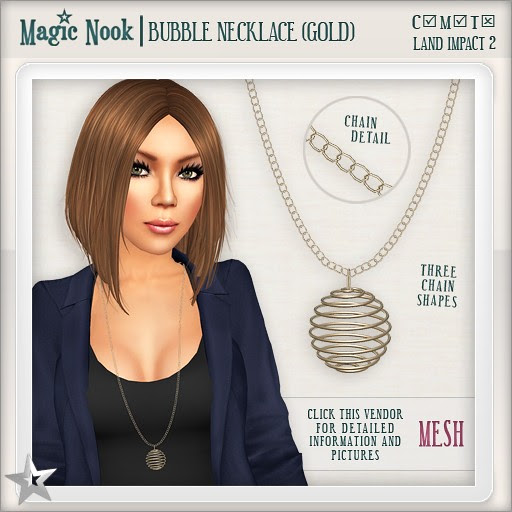 [MAGIC NOOK] Bubble Necklace (Gold) MESH