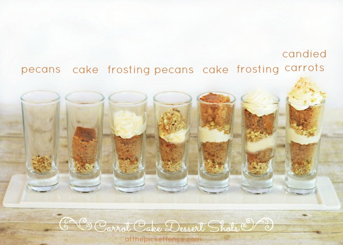Image result for carrots individual dessert glasses