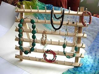 Bead Crochet Tips and Techniques: Jewelry display idea - bracelets and necklaces