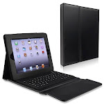 Camson Wireless Bluetooth Keyboard Leather Case and Stand for iPad 3, iPad 2 and New iPad CSBTCS1