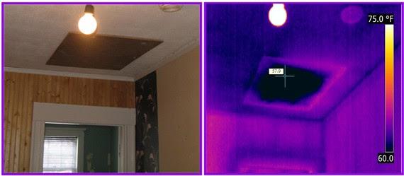 attic access missing insulation