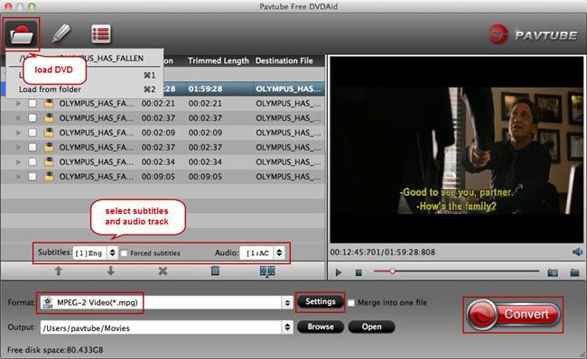 load dvd into free dvdaid mac