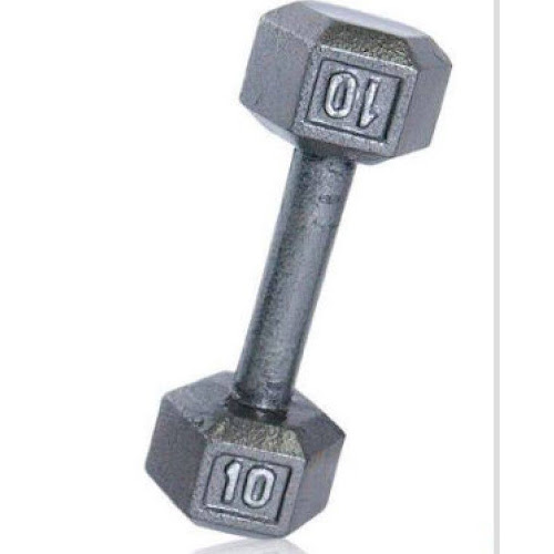 4ee83d18b19 CAP Barbell 10 lb Grey Cast Iron Hex Dumbbell - Silver - Google Express