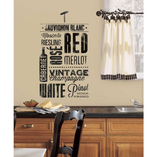 Wine Lovers Peel and Stick Vinyl Wall Decals by RoomMates