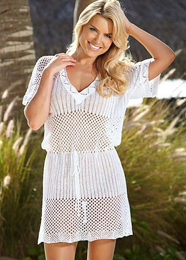 Venus V-Neck Crochet Dress Cover-Up