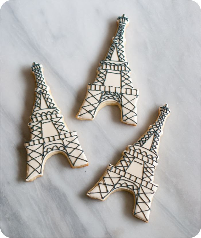 easy eiffel tower cookies with how-to and inspiration
