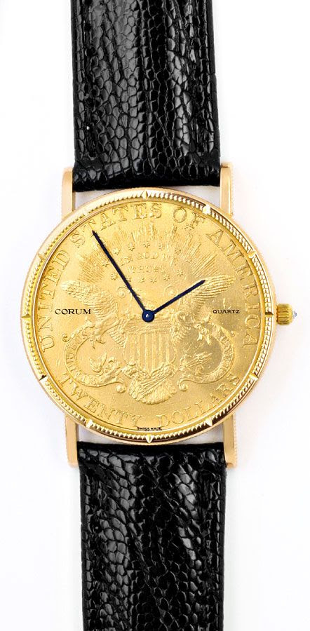 Original-Foto 2, CORUM DOLLAR USA GOLDMÜNZE HERREN-GOLDUHR