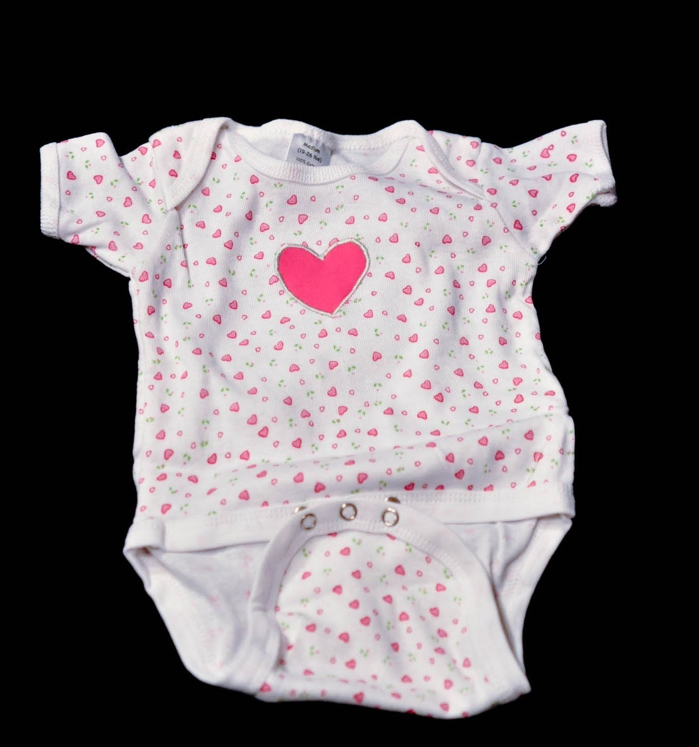 Handmade Heart Applique Onesie