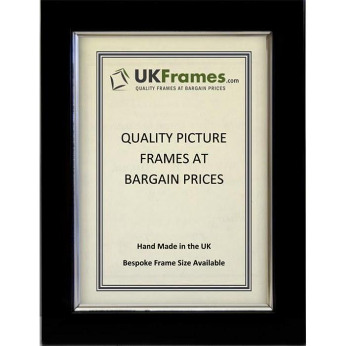 23mm Black With Silver Trim Frames Ukframes Buy Picture Frames