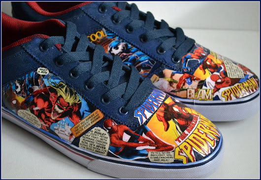 Custom Mens Shoes, Custom Spiderman Shoes, Mens Spiderman Shoes, Comic Book Shoes, DC Marvel Shoes, Xmas Gifts for Men, Vans Style Customs