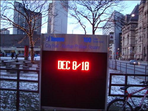 City Hall sign: Dec 8