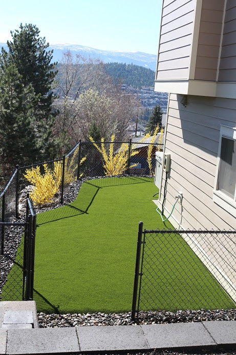 Featured Install- Synthetic Turf Backyard in Kelowna, BC - Synthetic Turf