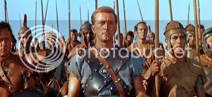 Kirk Douglas as 'Spartacus'