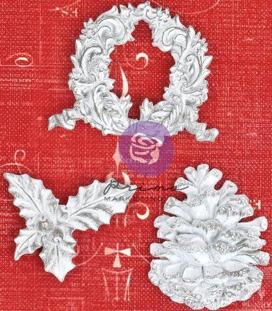 Prima Holiday Jubilee - Winter Resin Embellishments