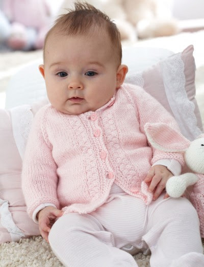 Simply lovely baby's Top Down Cardigan..# free #knitting pattern link here