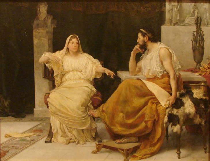 Aspasia de Mileto conversando