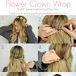 Spring Hair Tutorial With Flower Crown | Cashmere Hair Clip In Extensions