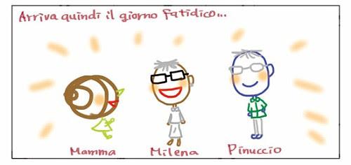 Arriva quindi il giorno fatidico... Mamma Milena Pinuccio