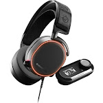 SteelSeries - Arctis Pro + GameDAC Wired DTS Headphone:X v2.0 Surround Sound Gaming Headset for PS4 and PC - Black