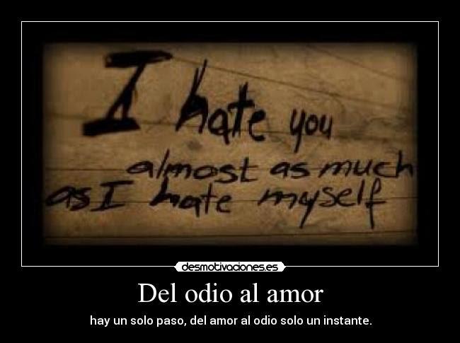 Del Odio Al Amor Desmotivaciones