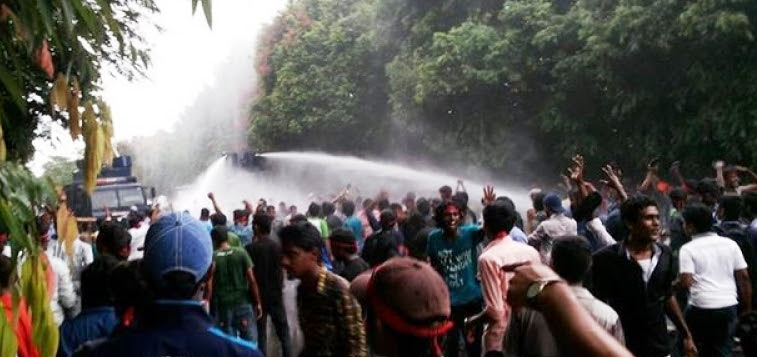 Image result for tear gas and water cannons sri lanka