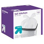 Tall Kitchen Flap-Tie Trash Bags - 13 Gallon - 110ct - Up&Up , White