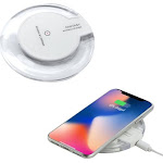 Insten Qi Wireless Power Charging Pad for iPhone x XS iPhone 8 8 Plus / Samsung Galaxy S8 S9 Note 8 and All Qi-Enabled Devices Universal - Crystal