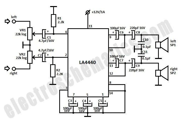 La4508 Subwoofer Circuit Diagram Circuit Diagram Images