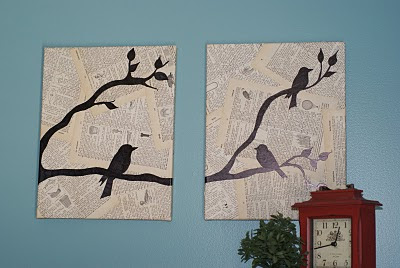 Bird and Text Collage Wall Art | FaveCrafts.