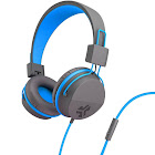 JLab Neon On-Ear Headphones with Mic - Blue/Graphite