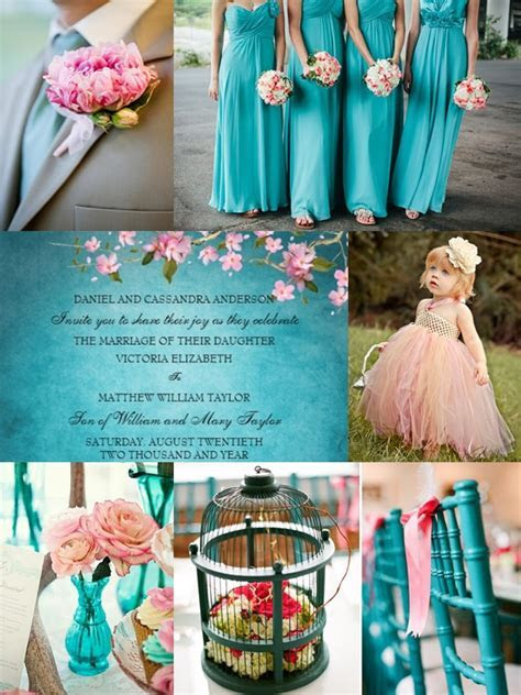 Wedding Color Motif   Shades of Pink and Teal   Wedding