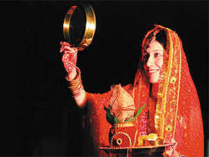 Women indulge in fancy treatments for Karva Chauth