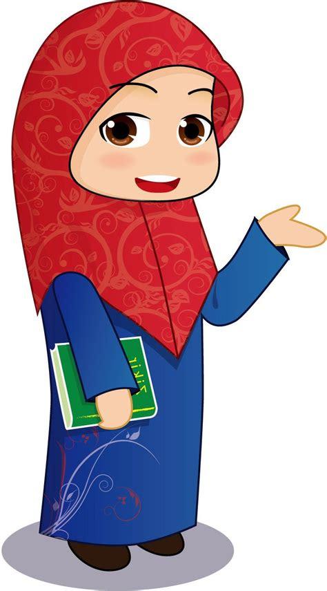 kumpulan gambar kartun muslimah berkacamata kantor meme