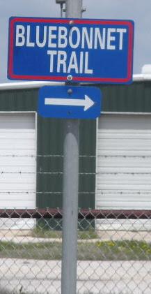 Bluebonnet trail sign